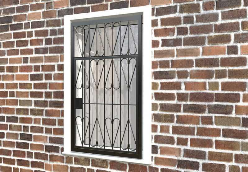 Фото 3 - Распашная решетка на окно РР-0032.