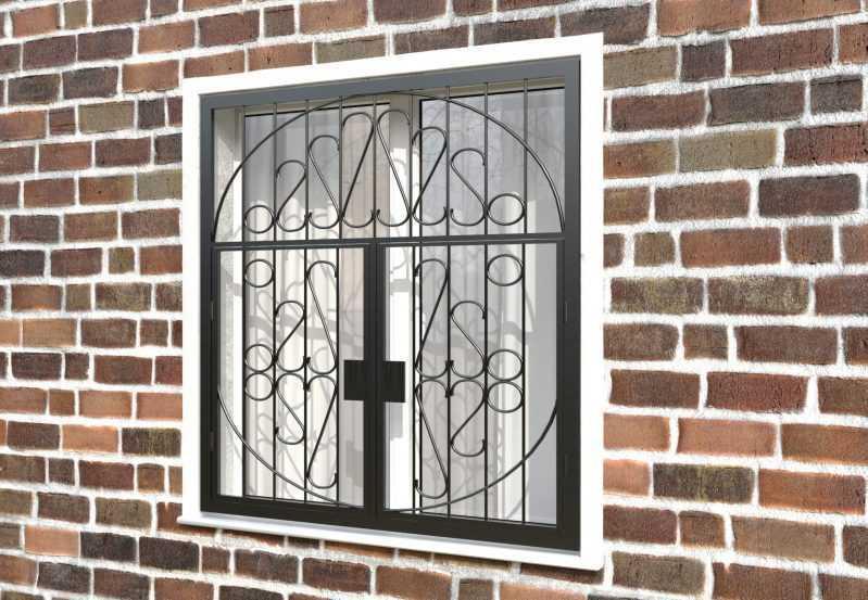 Фото 3 - Распашная решетка на окно РР-0029.