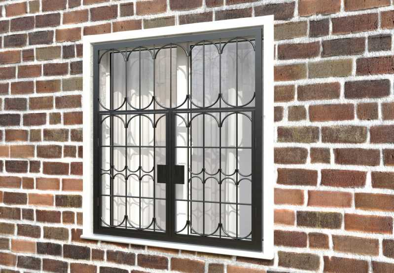 Фото 3 - Распашная решетка на окно РР-0028.