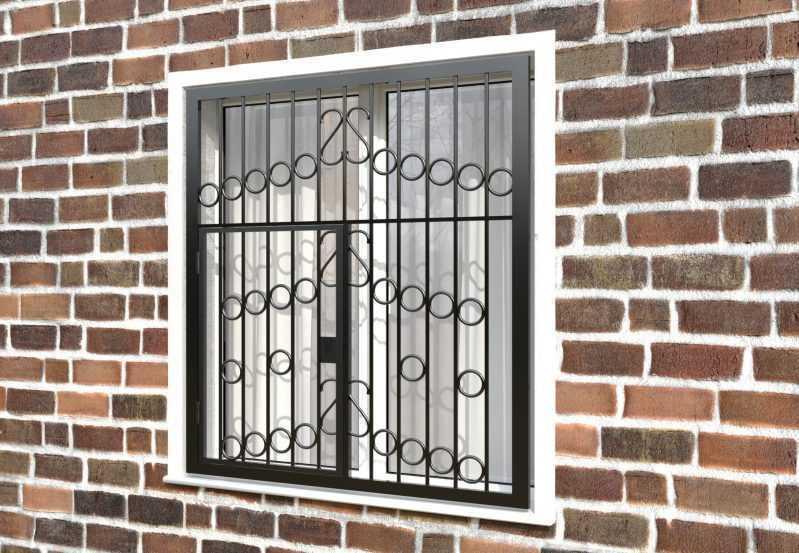 Фото 3 - Распашная решетка на окно РР-0027.