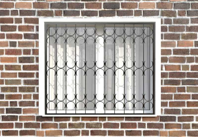 Фото 1 - Сварная решетка на окно РС0018.