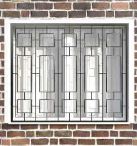 Фото 14 - Сварная решетка на окно РС0027.