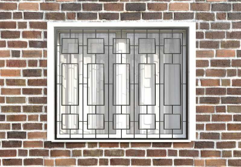 Фото 1 - Сварная решетка на окно РС0027.