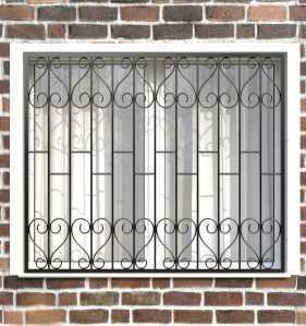 Фото 22 - Сварная решетка на окно РС0019.