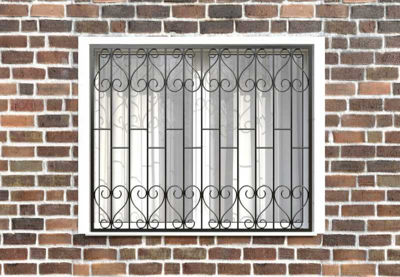 Фото 1 - Сварная решетка на окно РС0006.