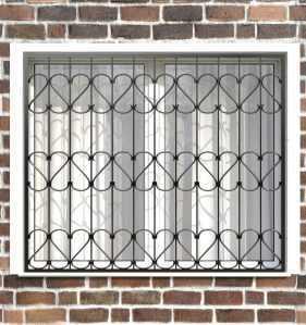 Фото 55 - Сварная решетка на окно РС0028.