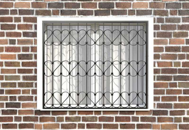 Фото 1 - Сварная решетка на окно РС0028.