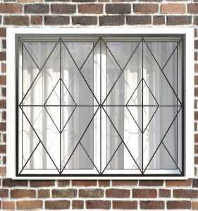 Фото 25 - Сварная решетка на окно РС0013.