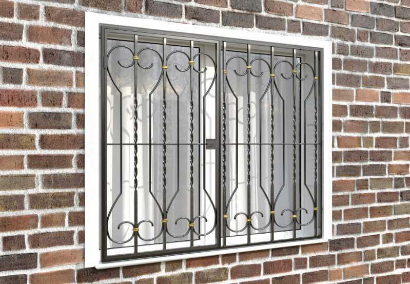 Фото 4 - Распашная решетка на окно РР-0040.