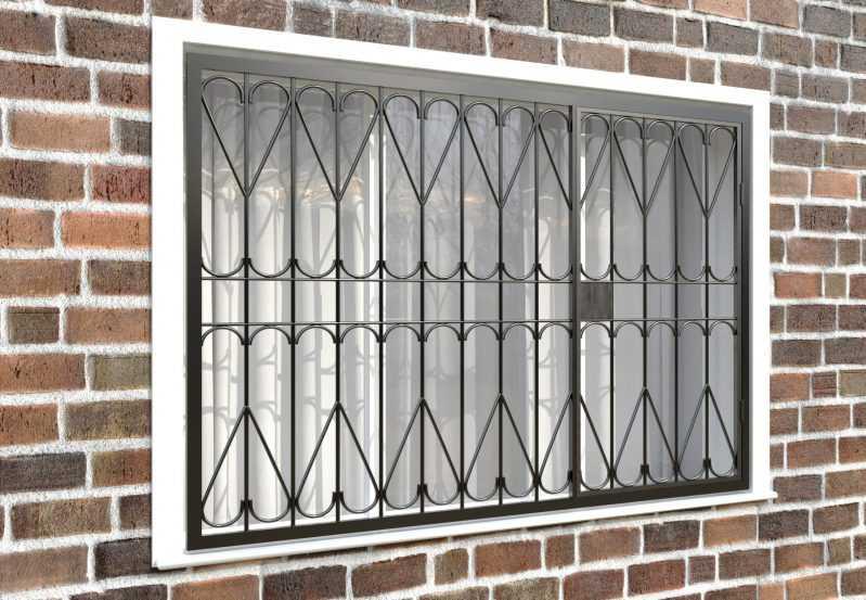 Фото 4 - Распашная решетка на окно РР-0026.