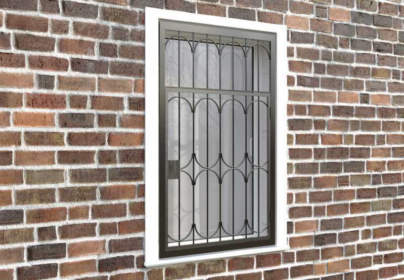 Фото 4 - Распашная решетка на окно РР-0024.
