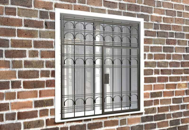 Фото 4 - Распашная решетка на окно РР-0023.