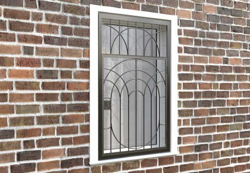 Фото 4 - Распашная решетка на окно РР-0022.