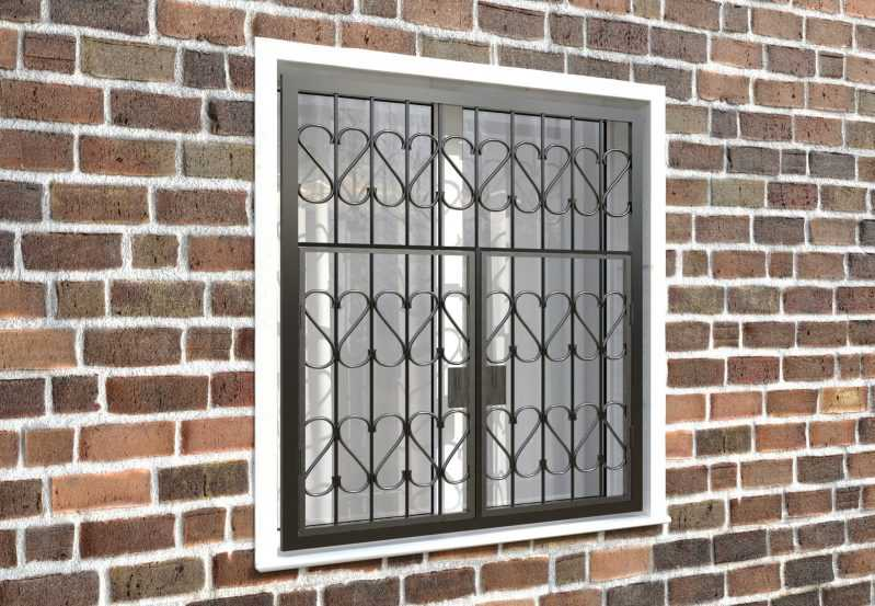 Фото 4 - Распашная решетка на окно РР-0009.