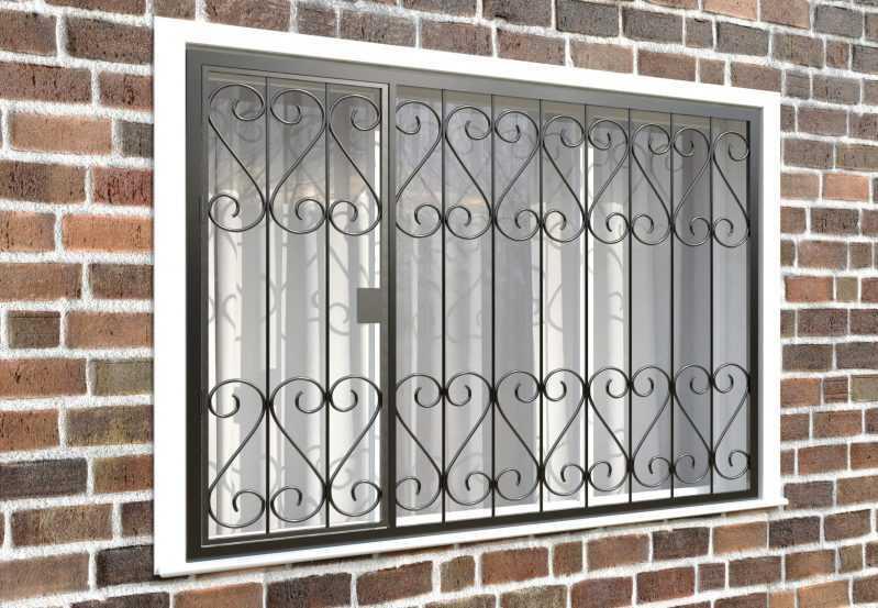 Фото 4 - Распашная решетка на окно РР-0021.