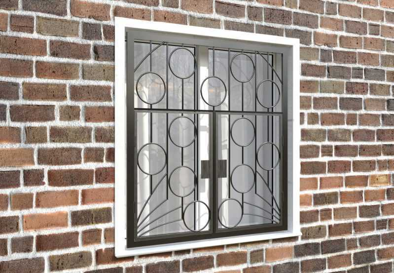 Фото 4 - Распашная решетка на окно РР-0011.