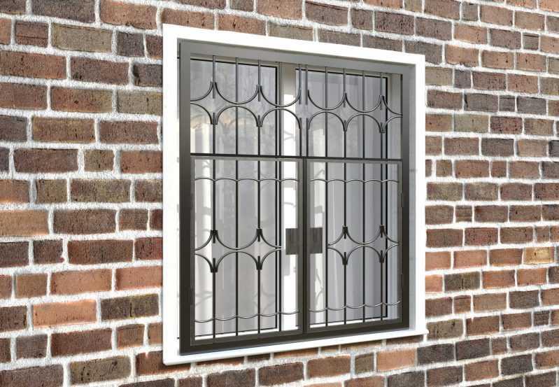 Фото 4 - Распашная решетка на окно РР-0012.