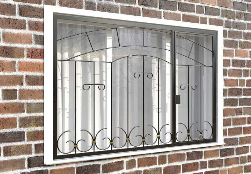 Фото 4 - Распашная решетка на окно РР-0038.