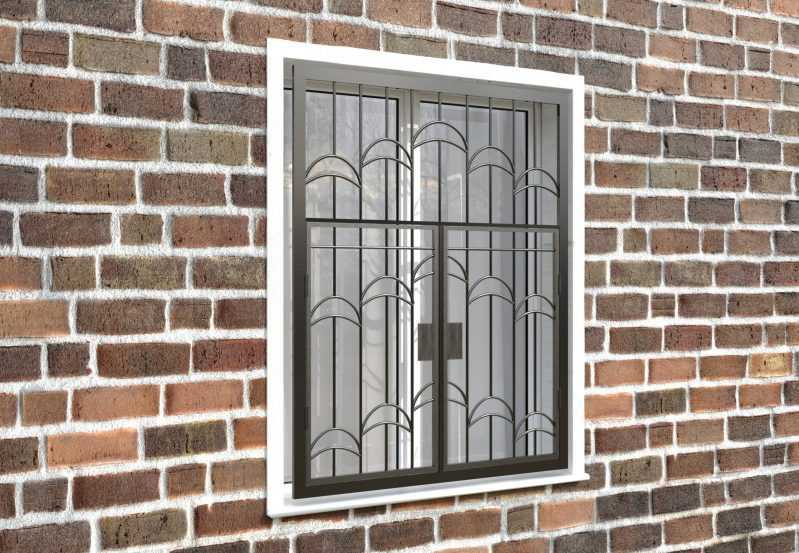 Фото 4 - Распашная решетка на окно РР-0013.