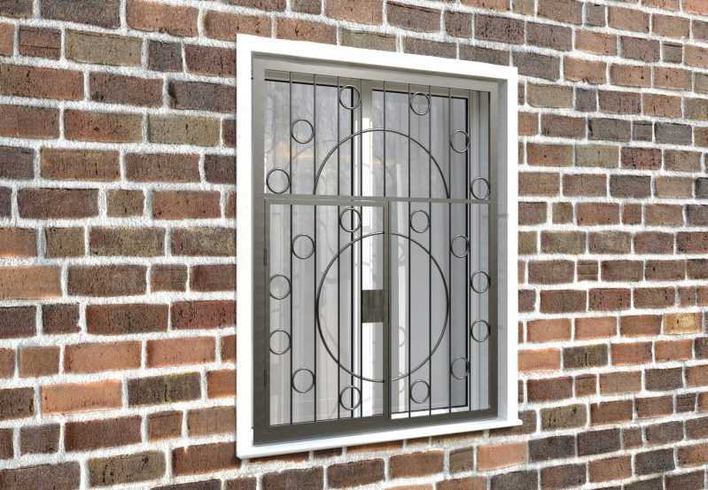 Фото 4 - Распашная решетка на окно РР-0014.
