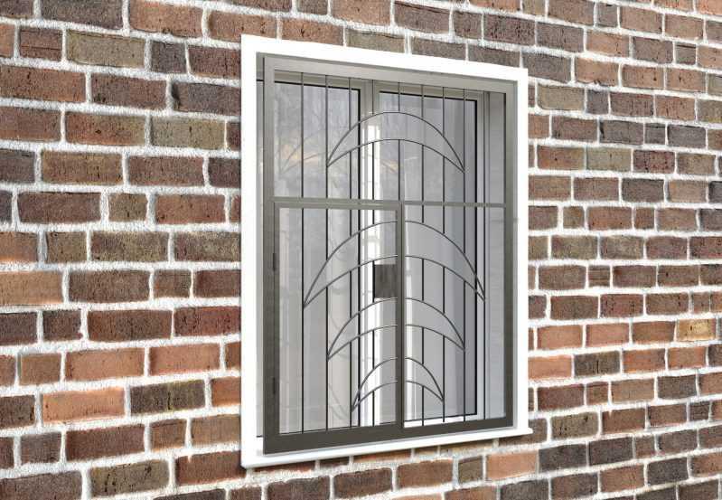 Фото 4 - Распашная решетка на окно РР-0015.