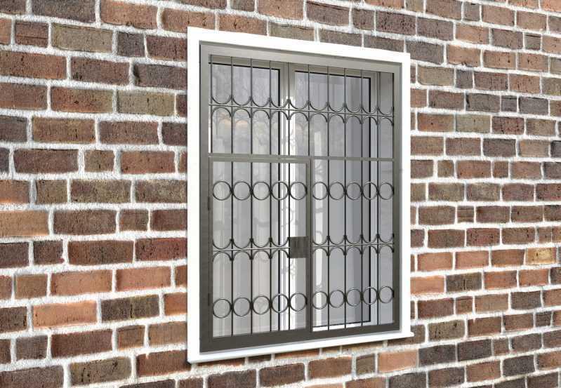 Фото 4 - Распашная решетка на окно РР-0016.