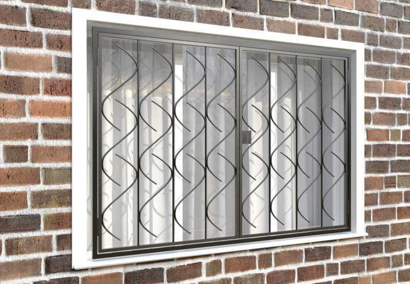 Фото 4 - Распашная решетка на окно РР-0017.