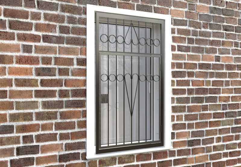 Фото 4 - Распашная решетка на окно РР-0008.