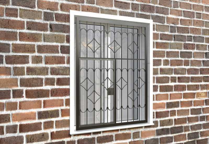 Фото 4 - Распашная решетка на окно РР-0007.