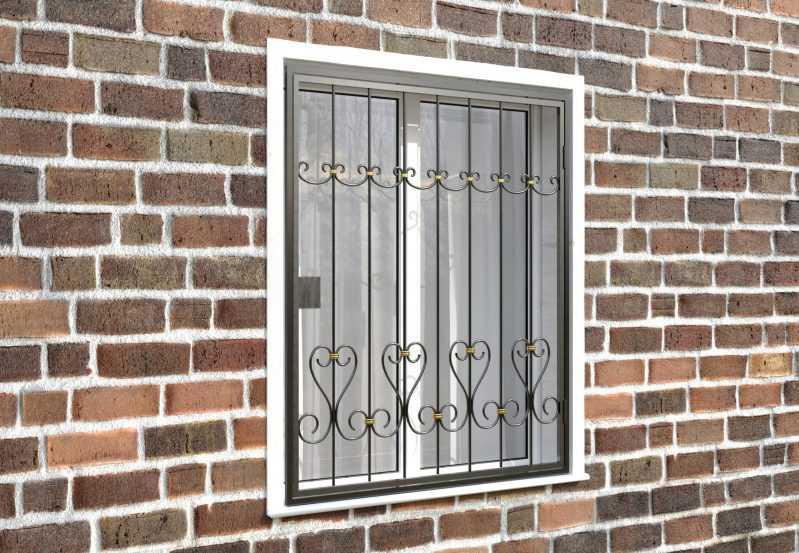 Фото 4 - Распашная решетка на окно РР-0020.