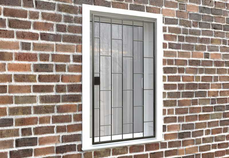 Фото 4 - Распашная решетка на окно РР-0001.