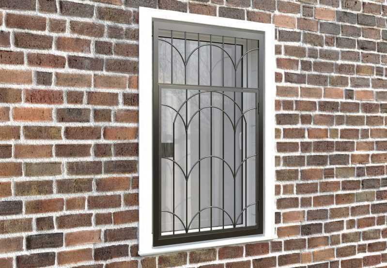 Фото 4 - Распашная решетка на окно РР-0033.