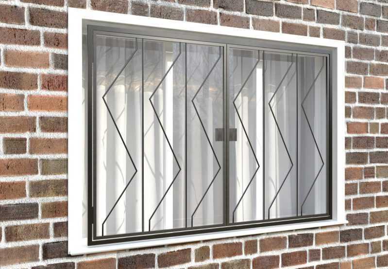 Фото 4 - Распашная решетка на окно РР-0006.