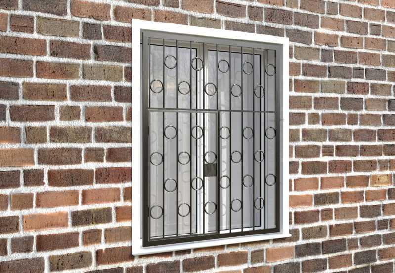 Фото 4 - Распашная решетка на окно РР-0004.