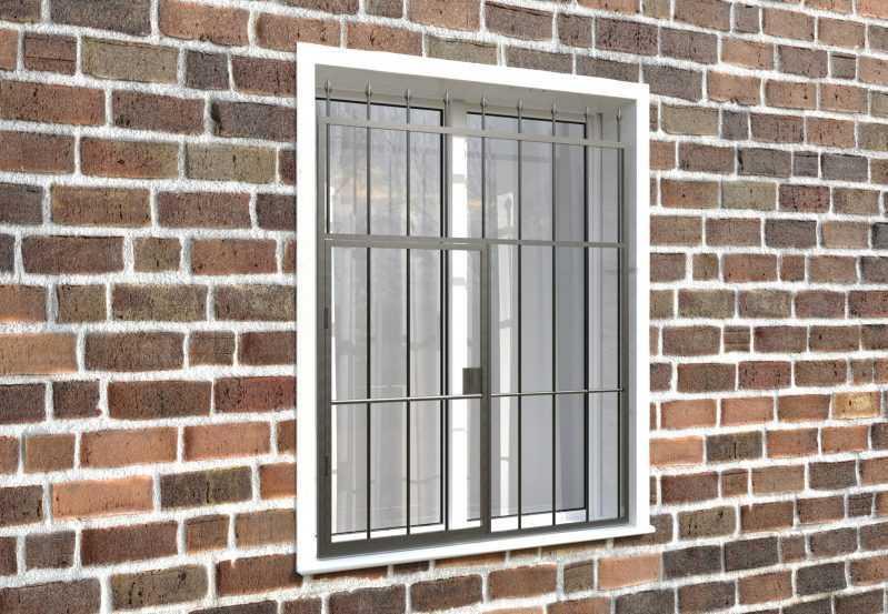 Фото 4 - Распашная решетка на окно РР-0018.