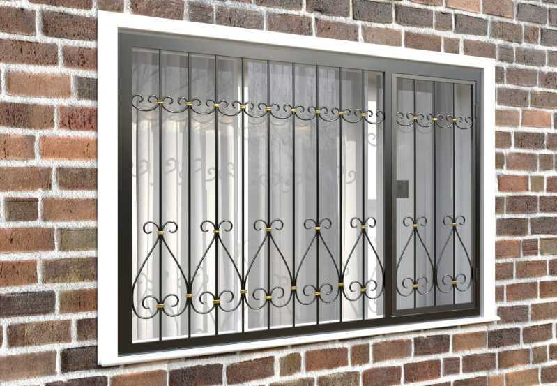 Фото 4 - Распашная решетка на окно РР-0042.