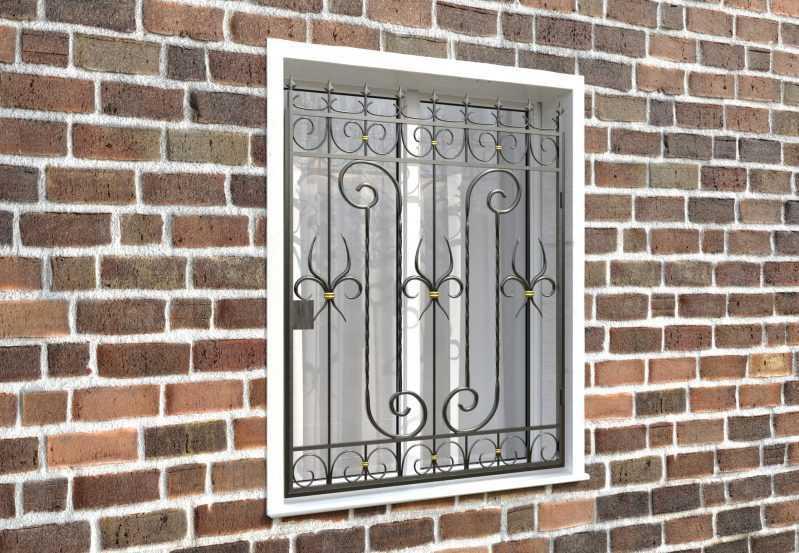Фото 4 - Распашная решетка на окно РР-0041.