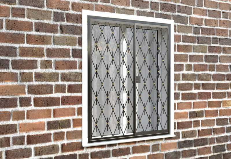 Фото 4 - Распашная решетка на окно РР-0039.