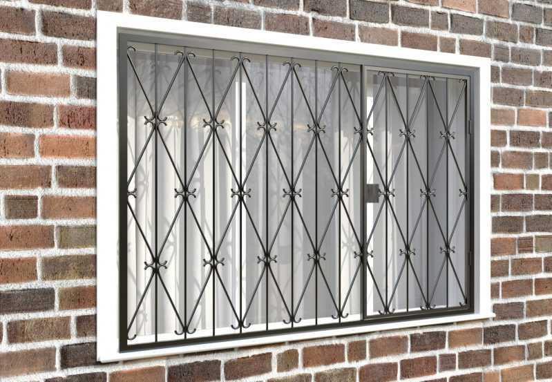 Фото 4 - Распашная решетка на окно РР-0019.