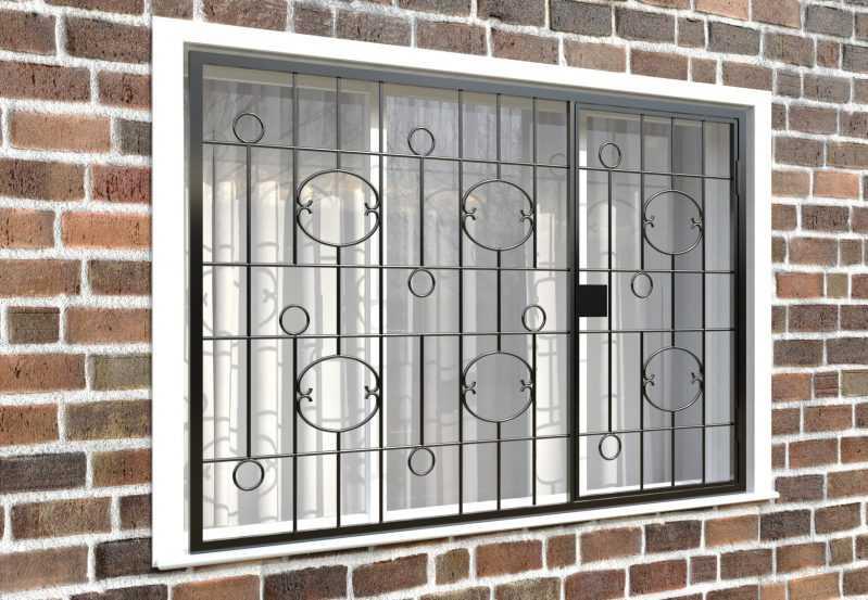 Фото 4 - Распашная решетка на окно РР-0037.