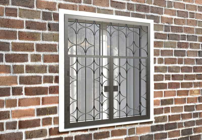 Фото 4 - Распашная решетка на окно РР-0031.