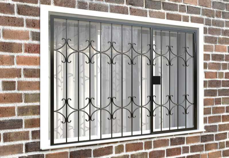 Фото 4 - Распашная решетка на окно РР-0036.