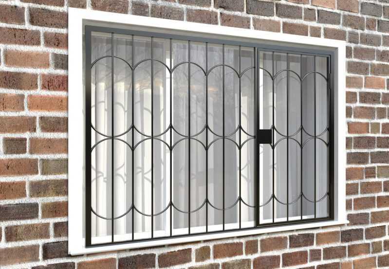 Фото 4 - Распашная решетка на окно РР-0035.