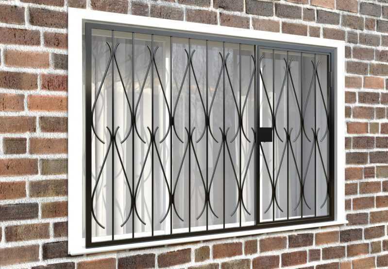 Фото 4 - Распашная решетка на окно РР-0034.