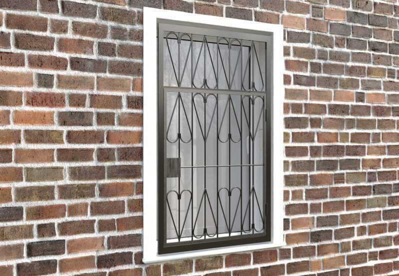 Фото 4 - Распашная решетка на окно РР-0032.