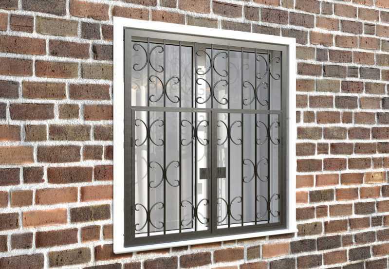 Фото 4 - Распашная решетка на окно РР-0030.