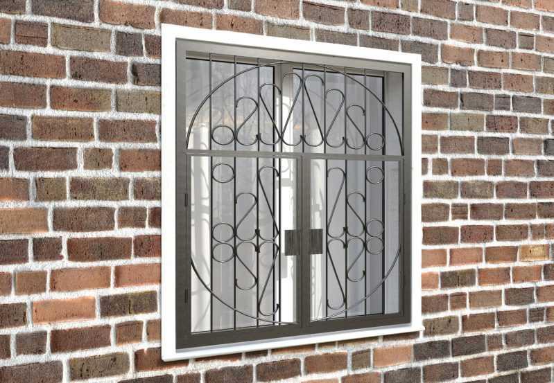 Фото 4 - Распашная решетка на окно РР-0029.