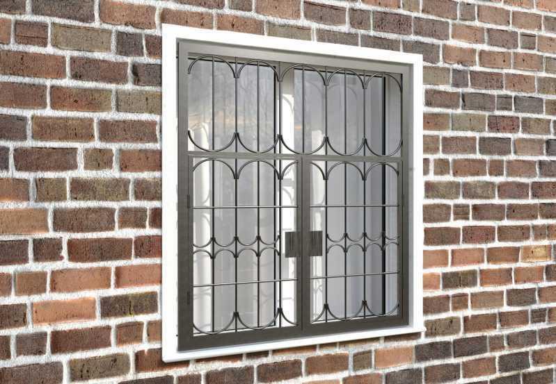 Фото 4 - Распашная решетка на окно РР-0028.