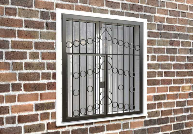 Фото 4 - Распашная решетка на окно РР-0027.