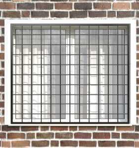 Фото 10 - Сварная решетка на окно РС0003.